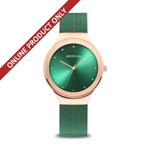 Bering Ladies Classic Quartz Green Watch 12934-868