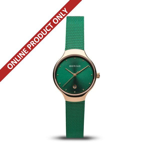 Bering Ladies Classic Quartz Green Watch 13326-868