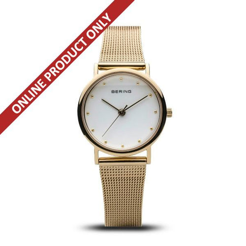 Bering Ladies Classic Quartz Gold Watch 13426-334