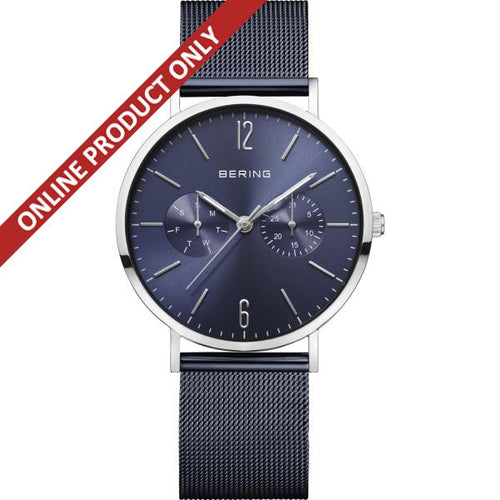 Bering Gents Classic Blue Multi-dial Quartz Watch 14236-303