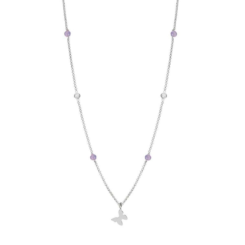 Nomination Italy Stone Set Silver Bella Butterfly Necklace  - 142641-010