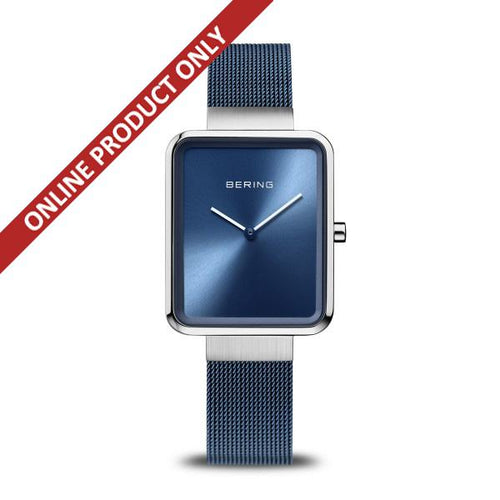 Bering Ladies Classic Quartz Blue and Stainless Steel watch 14528-307