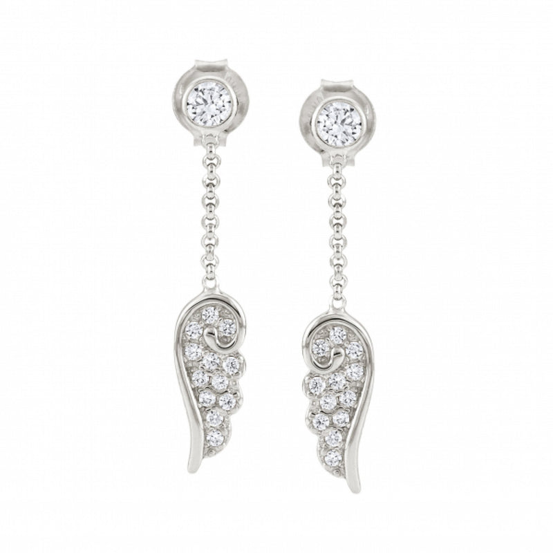 Nomination Italy Stone Set Silver Angel Drop Earrings  - 145340-010