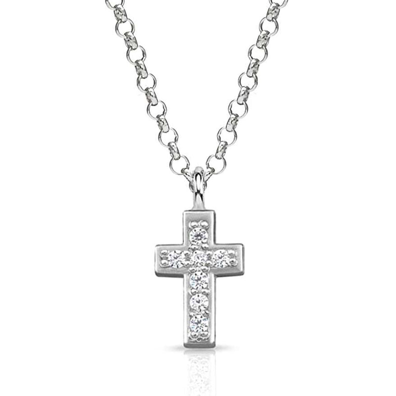 Nomination Italy Stone Set Silver Gioie Cross Necklace  - 146201-004