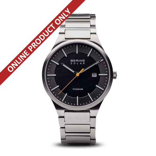 Bering Gents Solar Power Titanium Watch 15239-779