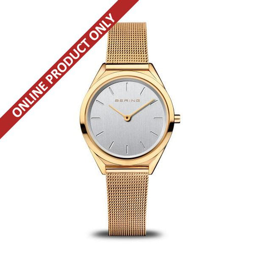 Bering Unisex Classic Ultra Slim Gold Watch 17031-334