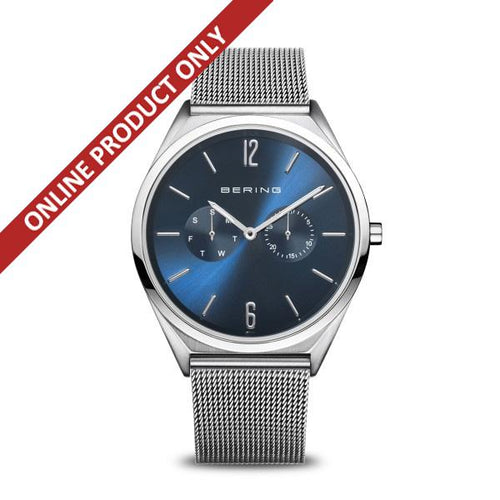 Bering Gents Ultra Slim Stainless Steel Multi-dial Watch 17140-007