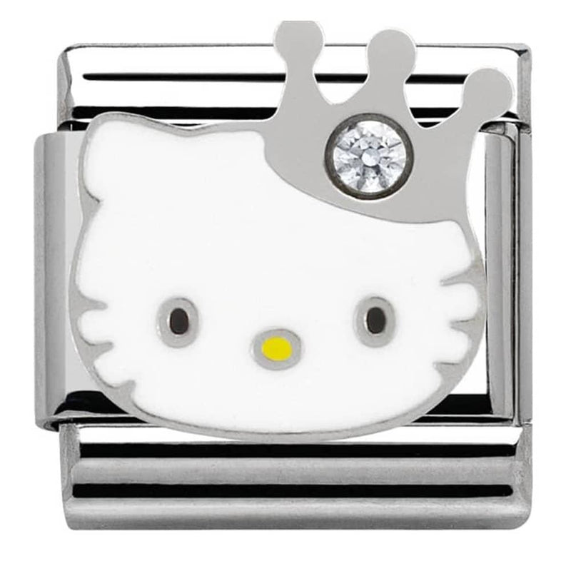 Nomination Italy Composable Hello Kitty Crown Link  - 230290-10