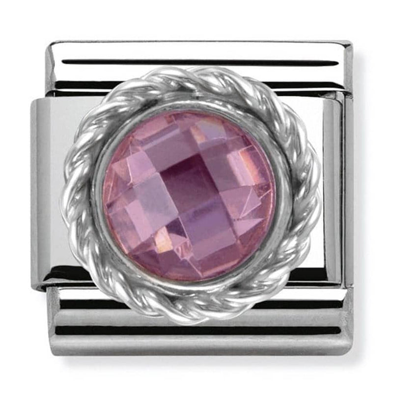 Nomination Italy Composable Pink Cz Round Link  - 330601-003