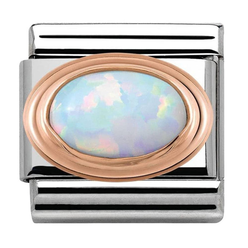 Nomination Italy Composable White Opal Link  - 430501-07