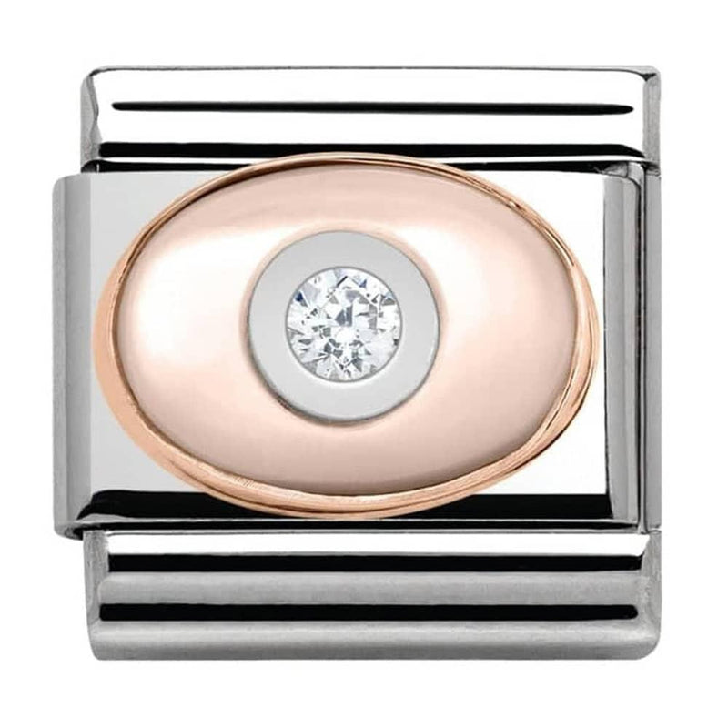 Nomination Italy Composable Stone Set Pink Mother Of Pearl Link  - 430504-02