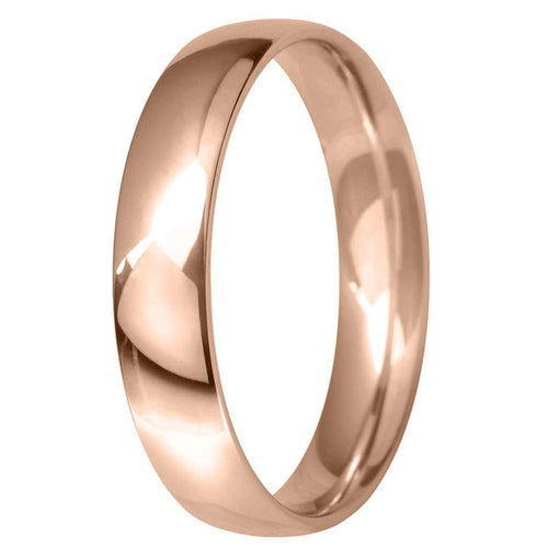 18ct Rose Gold 4mm Classic Court Wedding Ring