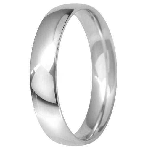 Platinum 4mm Classic Court Wedding Ring