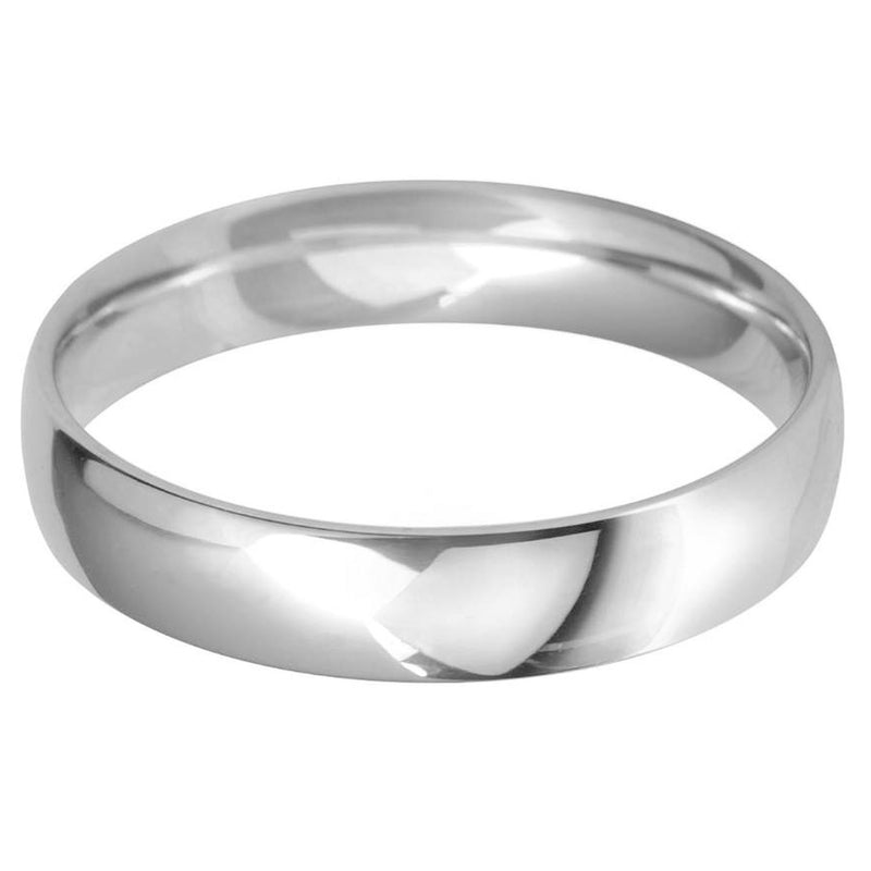 18ct White Gold 4mm Classic Court Wedding Ring