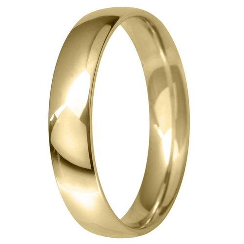 18ct Yellow Gold 4mm Classic Court Wedding Ring
