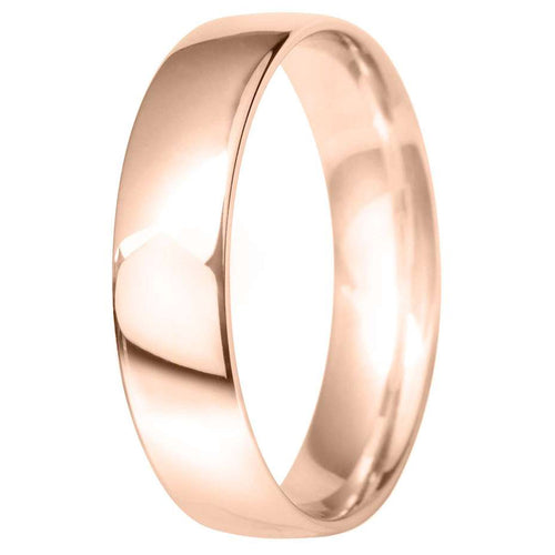 9ct Rose Gold Classic Court Wedding Ring