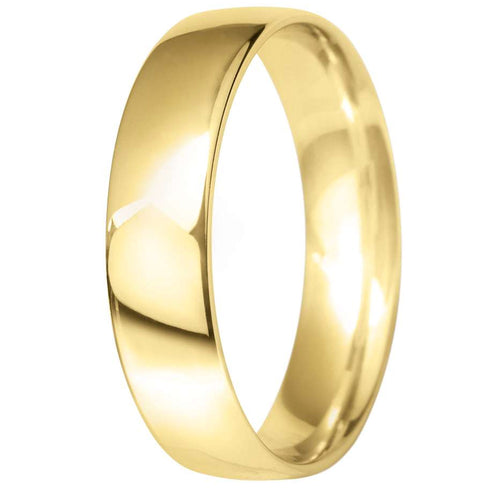 9ct Yellow Gold 5mm Classic Court Wedding Ring