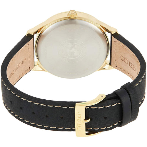 Citizen Men's Strap Dress Stainless Steel Gold Plated Watch BV1112-05A