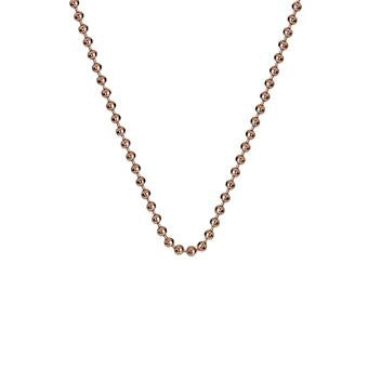 "Hot Diamonds at Hemstocks Jewellers CH007 18"" Rose Gold Plated Sterling Silver Bead Chain"