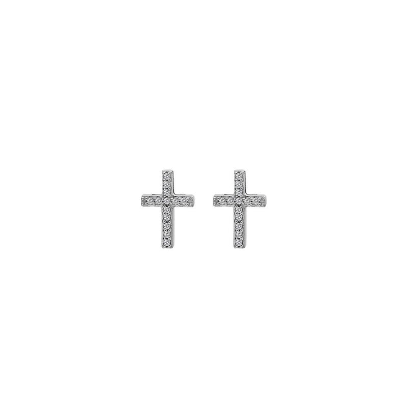 Hot Diamonds at Hemstocks Jewellers DE552 Striking Cross Earrings