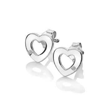Hot Diamonds at Hemstocks Jewellers DE616 Diamond Amulet Heart Earrings