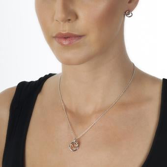 Hot Diamonds at Hemstocks Jewellers DP373 Eternal Pendant - Rose Gold Plate Accents