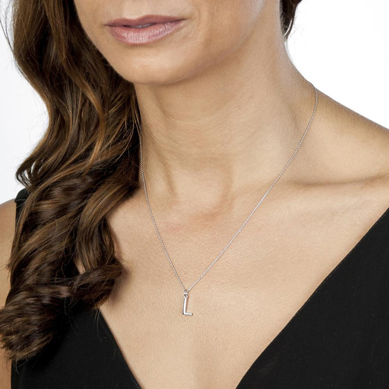 Hot Diamonds at Hemstocks Jewellers DP412 'L' Micro Pendant