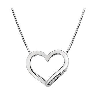 Hot Diamonds at Hemstocks Jewellers DP460 Simply Sparkle Open Heart Pendant