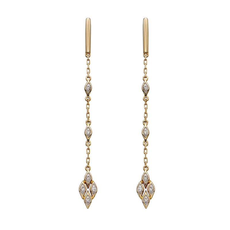 A Deco Diamond Statement Drops Yellow Gold Part Of The Norwich Jewellers Hemstocks Range
