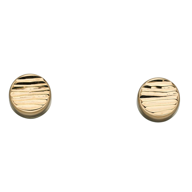 A Circle Disc Texture Yellow Gold Studs Part Of The Norwich Jewellers Hemstocks Range