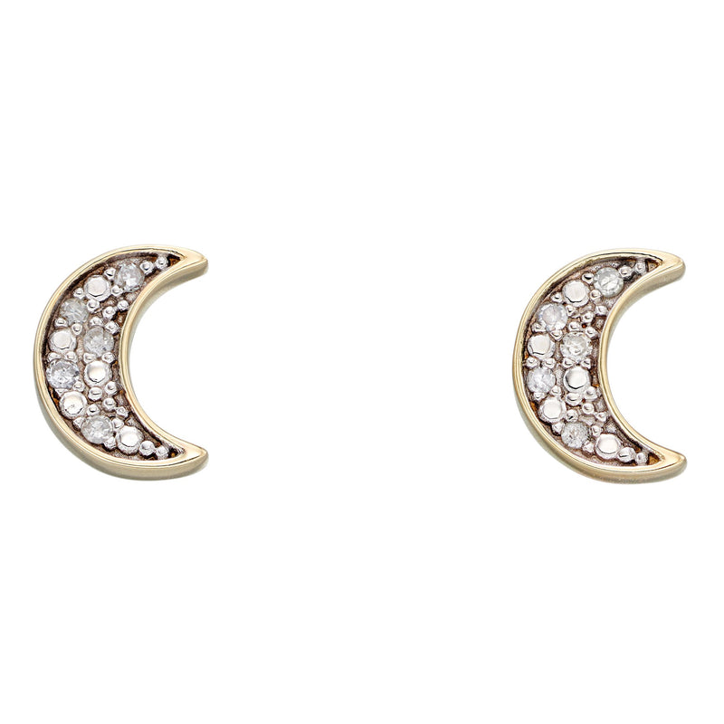 A Moon Diamond Studs Yellow Gold Part Of The Norwich Jewellers Hemstocks Range