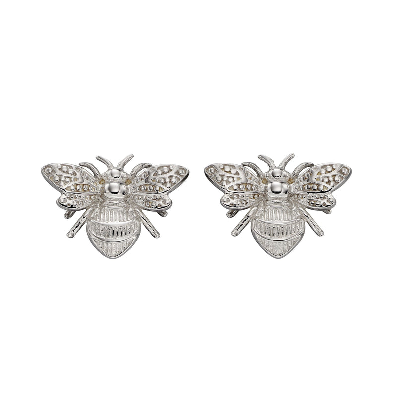 A White Gold Bee Stud Earrings Part Of The Norwich Jewellers Hemstocks Range