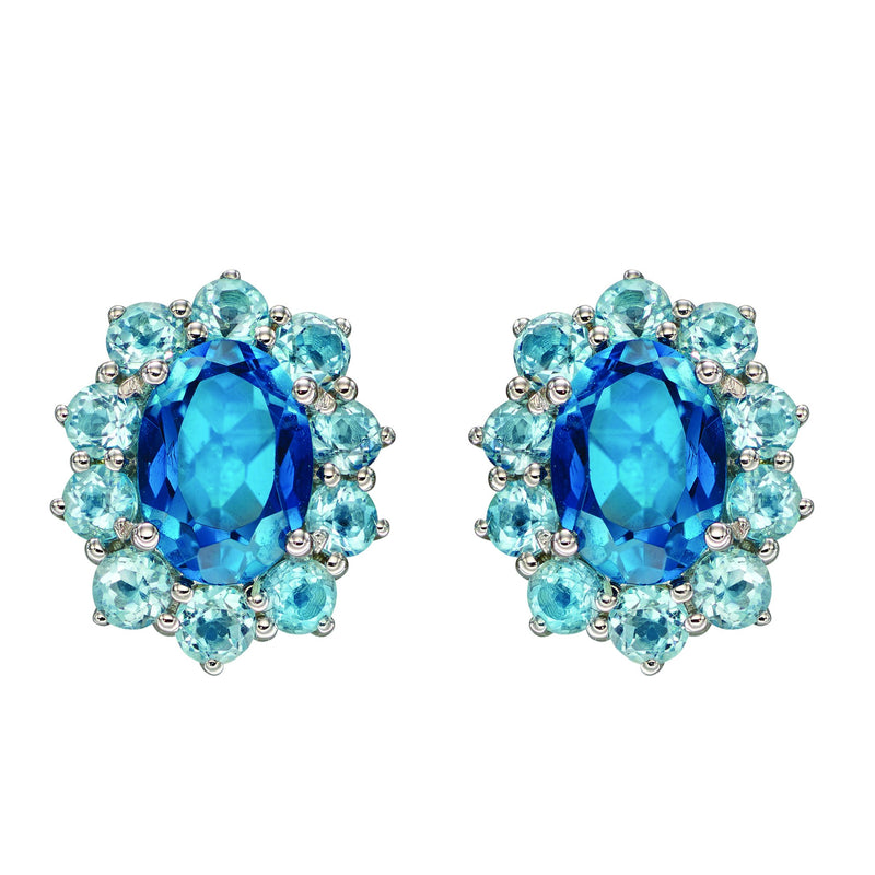 A London Blue Topaz And Sky Blue Topaz Earrings White Gold Part Of The Norwich Jewellers Hemstocks Range