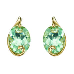 A Green Fluorite Swirl Studs Yellow Gold Part Of The Norwich Jewellers Hemstocks Range