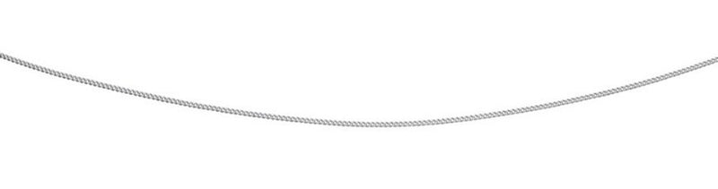 A 9Ct White Curb 41-46Cm With Extender Chain Part Of The Norwich Jewellers Hemstocks Range