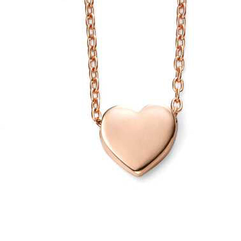 A 9Ct Rose Gold Heart Charm Necklace Part Of The Norwich Jewellers Hemstocks Range