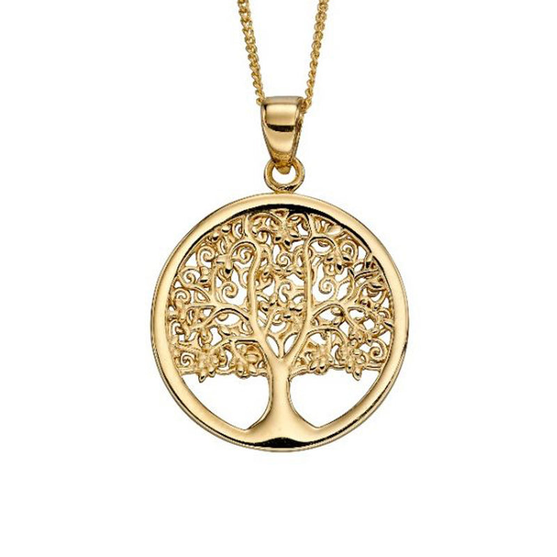 A Yellow Gold Tree Of Life Part Of The Norwich Jewellers Hemstocks Range