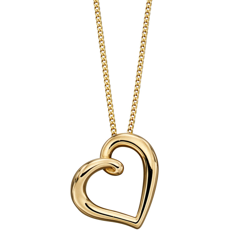 A  Yellow Gold Organic Heart Pendant Part Of The Norwich Jewellers Hemstocks Range