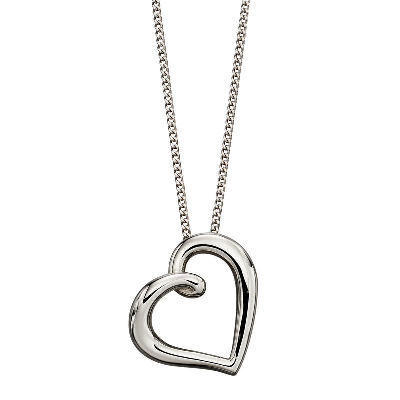A  White Gold Organic Heart Pendant Part Of The Norwich Jewellers Hemstocks Range