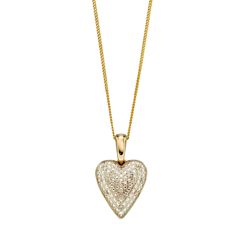 A Diamond Pave Heart Pendant Part Of The Norwich Jewellers Hemstocks Range