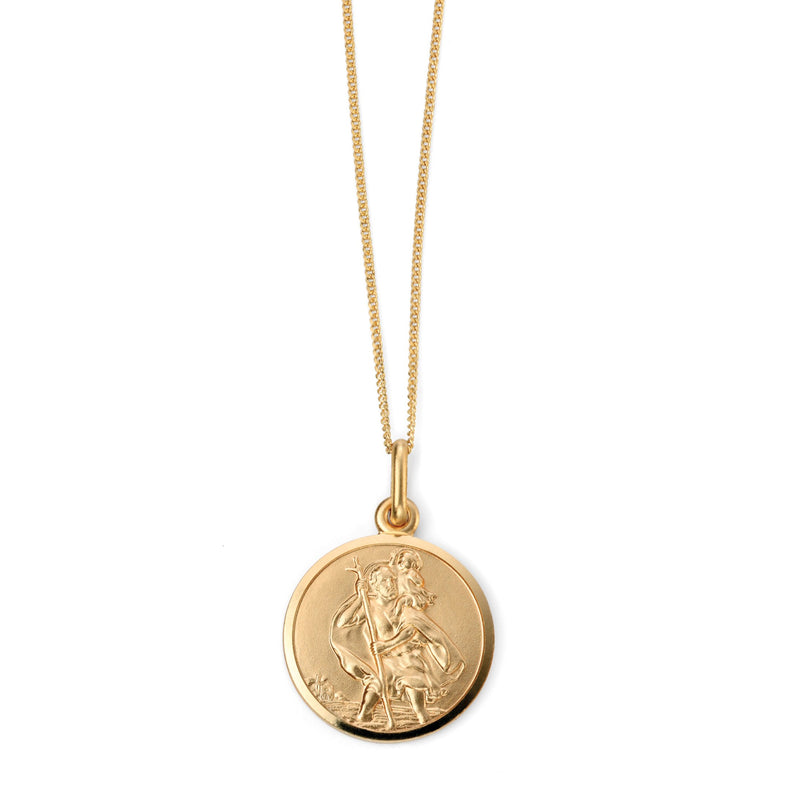 A Yellow Gold St Christopher Pendant Part Of The Norwich Jewellers Hemstocks Range