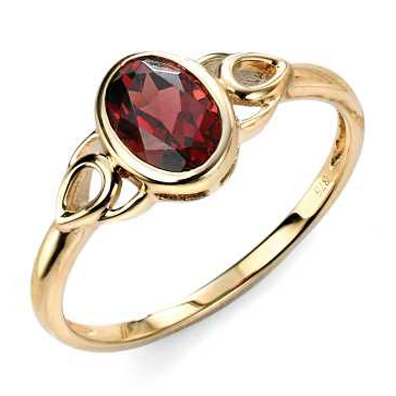 A 9Ct Garnet Celtic Style Ring Part Of The Norwich Jewellers Hemstocks Range