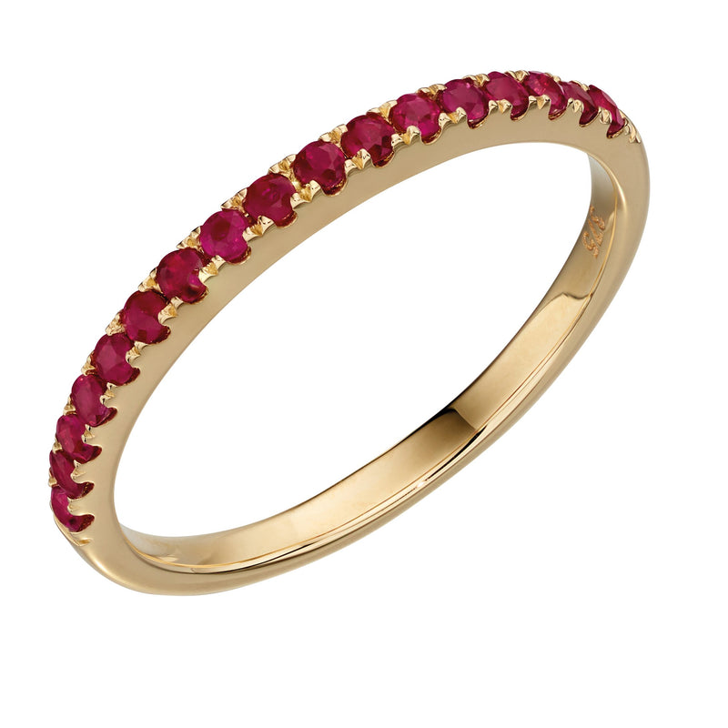A Yellow Gold Ruby Band Ring Part Of The Norwich Jewellers Hemstocks Range