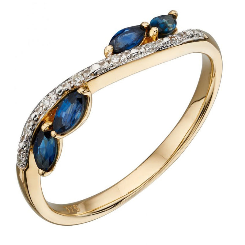 A Marquise Sapphire And Diamond Ring Yellow Gold Part Of The Norwich Jewellers Hemstocks Range