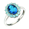 A London Blue Topaz And Sky Blue Topaz Ring White Gold Part Of The Norwich Jewellers Hemstocks Range