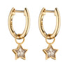 Earrings Pendant Star With Diamond Set Illusion With 9ct Yellow Gold