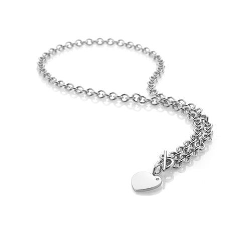 Hot Diamonds at Hemstocks Jewellers Lovelocked Silver Rhodium Plated Necklace