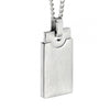Fred Bennett Antique Steel Brushed Rectangle Pendant Necklace P4693