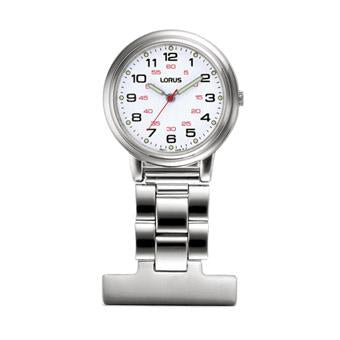 LORUS RG251CX9 Nurses Fob Watch - Silver with White Dial