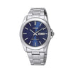 LORUS RJ603AX9 Mens Classic Silver Bracelet Dress Watch with Blue Dial